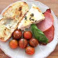 2. Baked Ricotta, Bacon & Roast Tomatoes