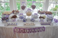 shower dessert table  CW distinctive DESIGNS