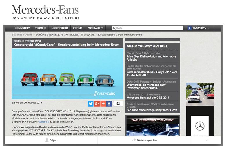 Mercedes Fans Onlinemagazin Candycars