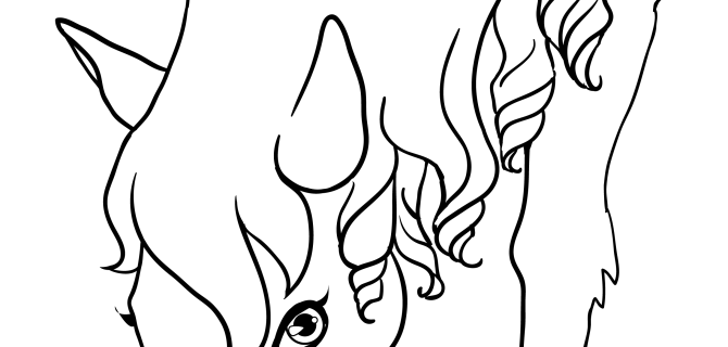 Free Animal Coloring Pages: Horse Coloring Pages