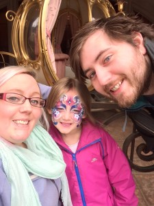 Face painting at Disneyland