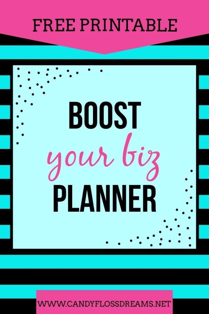 Boost Your Biz Free Printable Planner