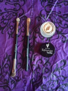 splurge cream shadow elegant, eyeshadow, cream eyeshadow, makeup brushes