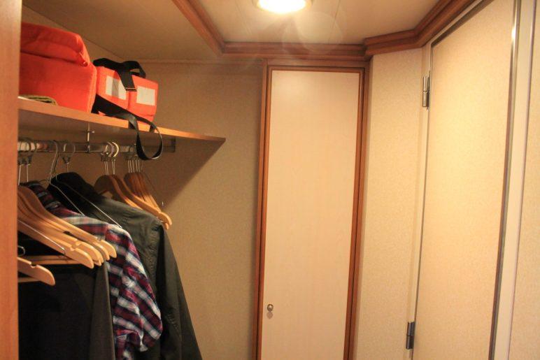 azura cabin walk in wardrobe