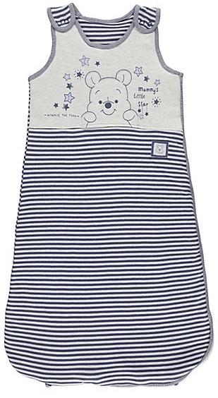 winnie the pooh blue stripe baby sleeping bag