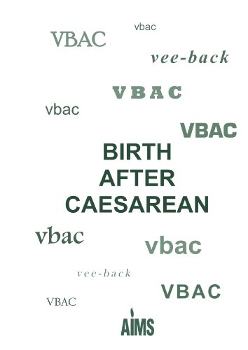 must read pregnancy book, VBAC After Caesarean