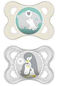 MAM dummies for new baby, penguin and polar bear design