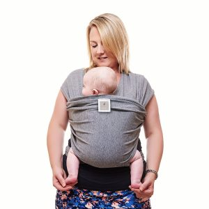Grey baby carrier, baby sling, funky flamingo grey sling, new baby wishlist
