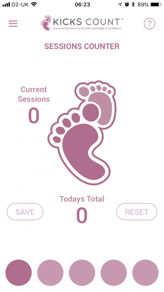 Kicks Count, Pregnancy Movement App