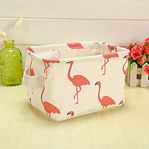 Flamingo Canvas Storage Box, Flamingo Bedroom