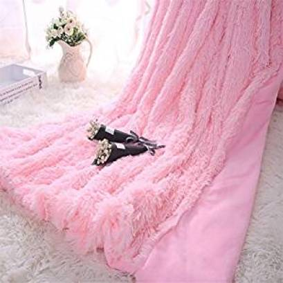 Pink Fluffy Throw, Flamingo Bedroom