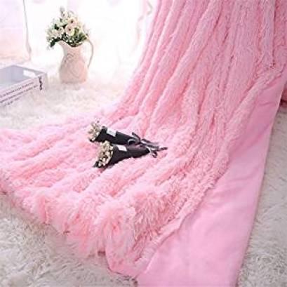Pink Fluffy Throw, Flamingo Bedroom
