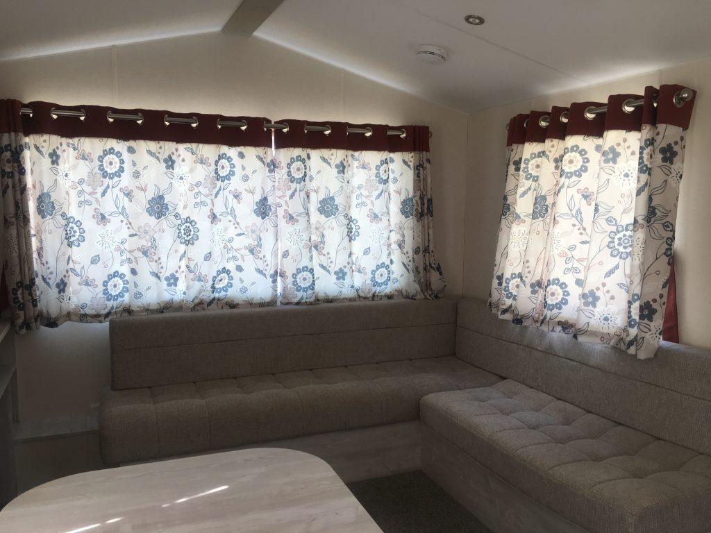 hazel caravan landguard holiday park seating area