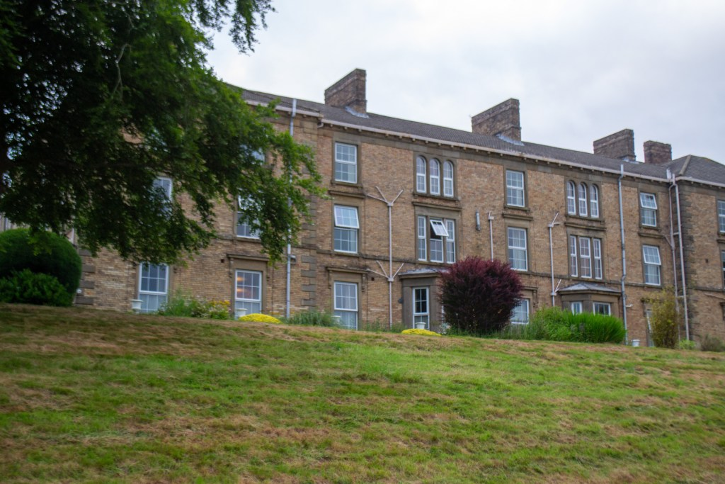 the side of Gilsland Hall Hotel as you drive up to the property