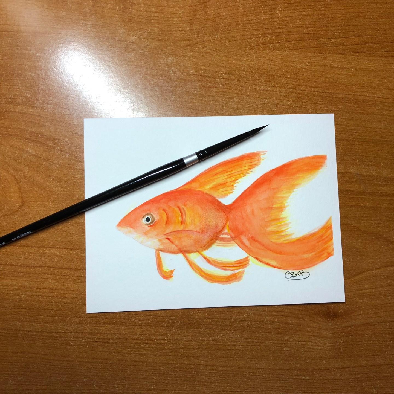 Watercolor – Goldfish