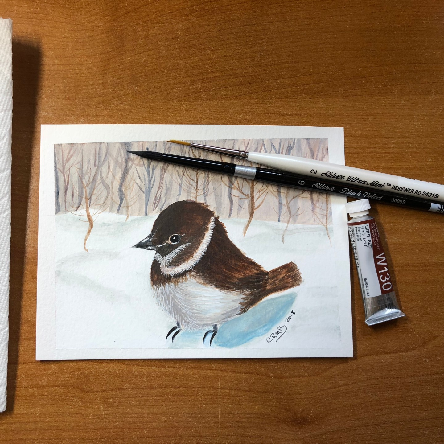 Watercolor – Little Bird (finished)