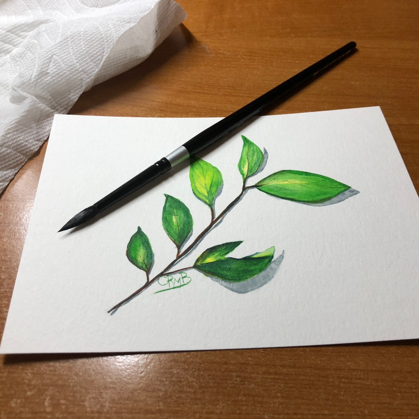 Watercolor – Green Leaves