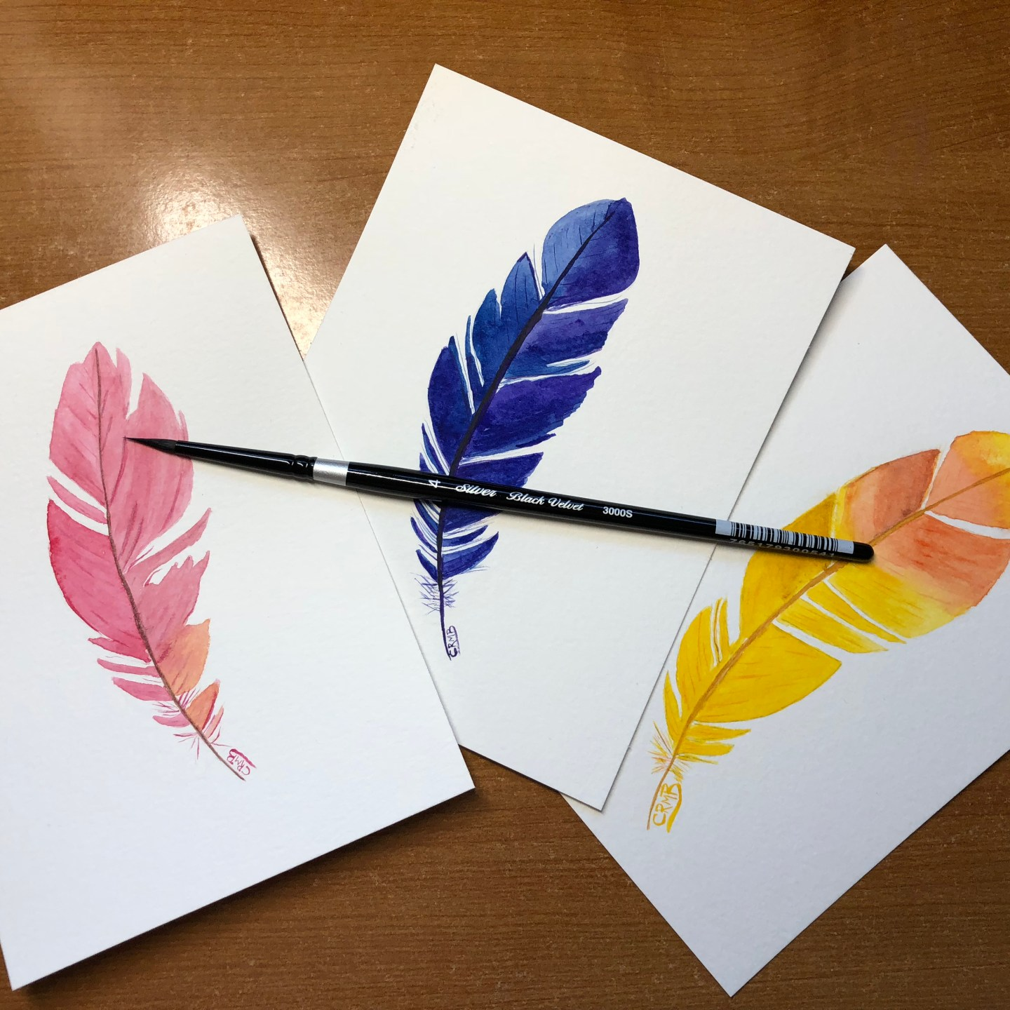 Watercolor – Feathers