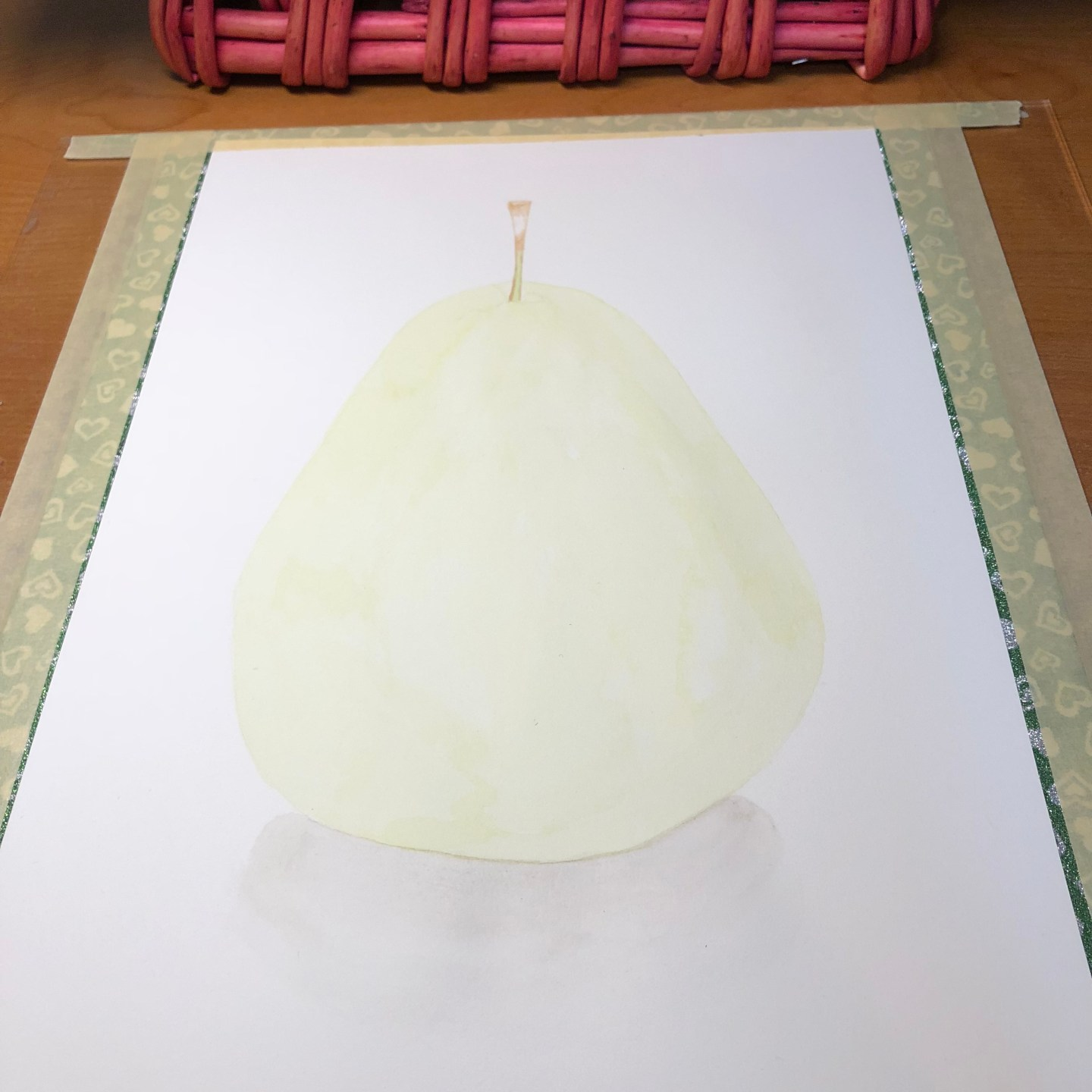 Watercolor – Pear (First Layer)
