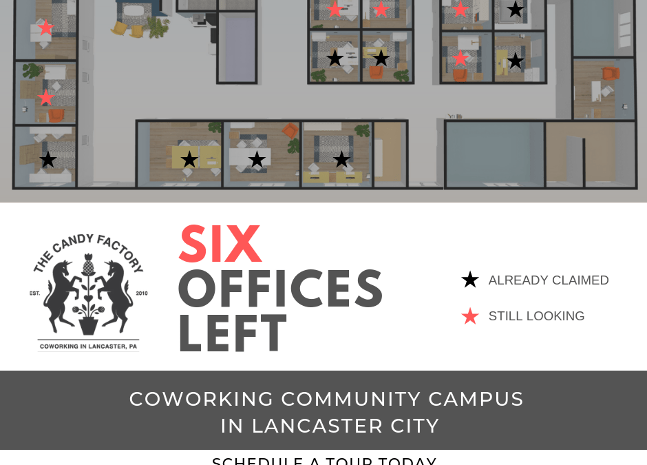 Coworking Campus – Six Offices Left
