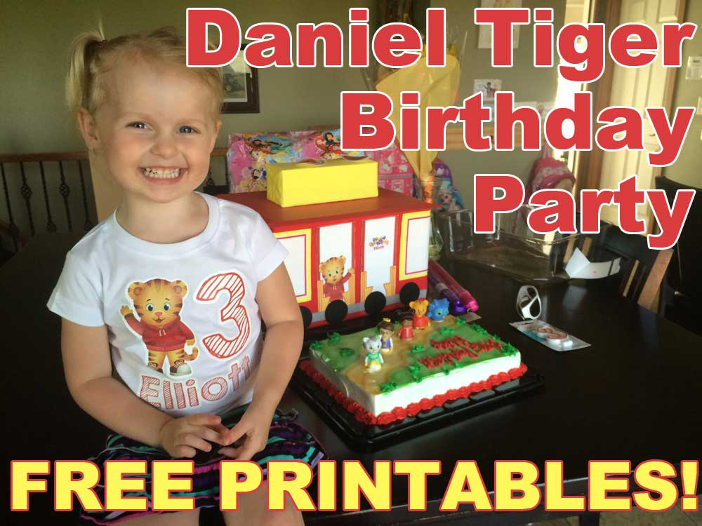 daniel tiger birthday party with free