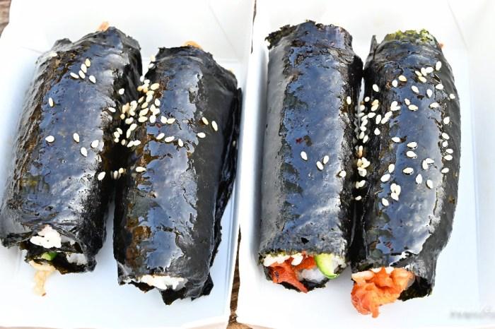 韓式娃娃飯捲│台中韓式飯捲推薦,超可愛mini飯捲,四個只要100元,就在富地市場裡頭~