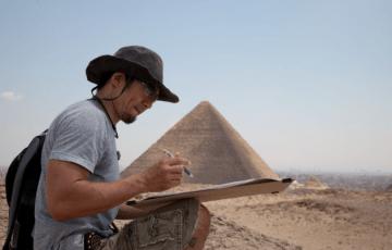 河江ゆきのり、エジプト、ピラミッド