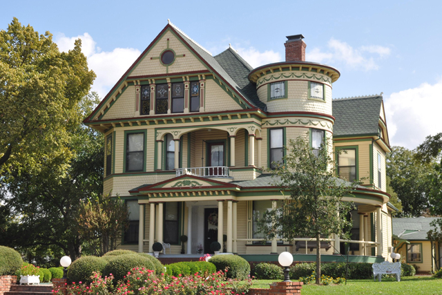 The Heritage Hill Queen Anne Victorian is owned by Joan Vandergriff.