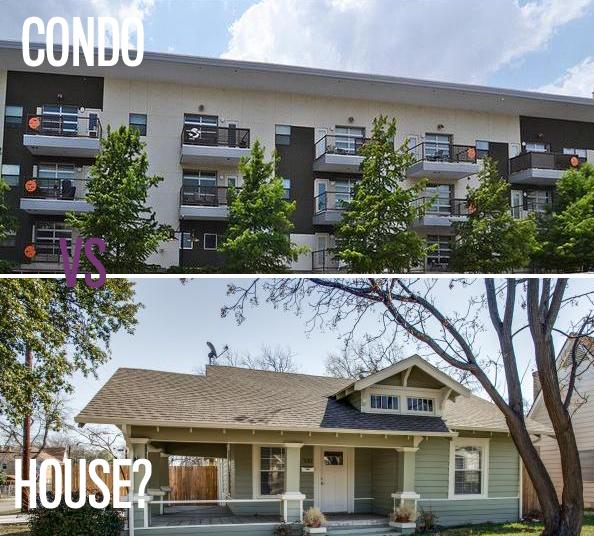 CONDO VS HOUSE GRAPHIC