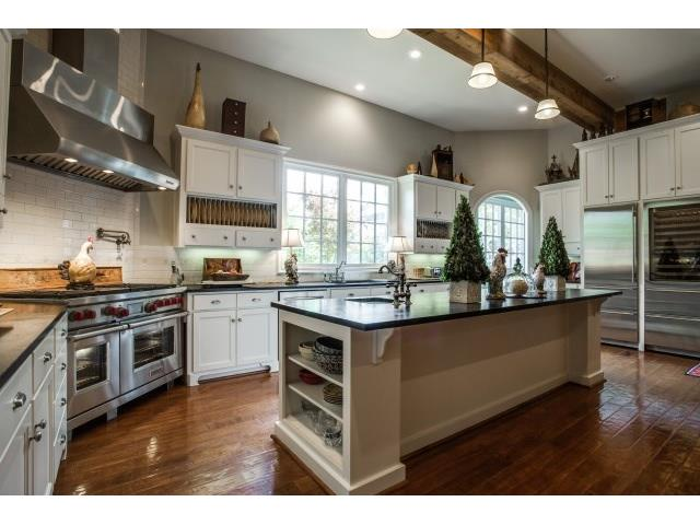 State of the art kitchen with top of the lineappliances, pot fil
