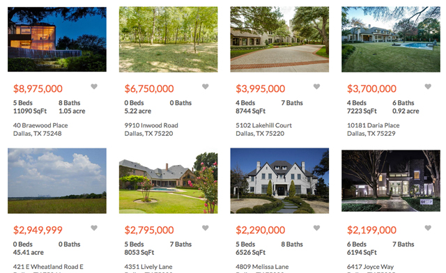 Think these are actual Redefy listings? Think again. They belong to other high-profile Realtors in North Texas.