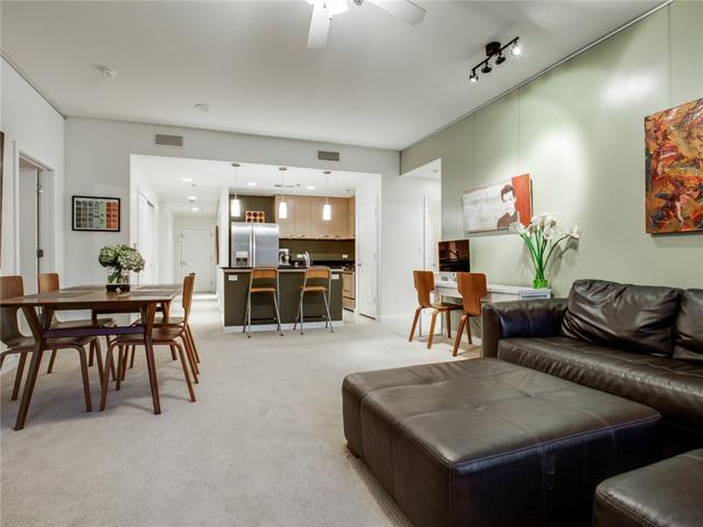 1200 Main #409 Living to Kitchen