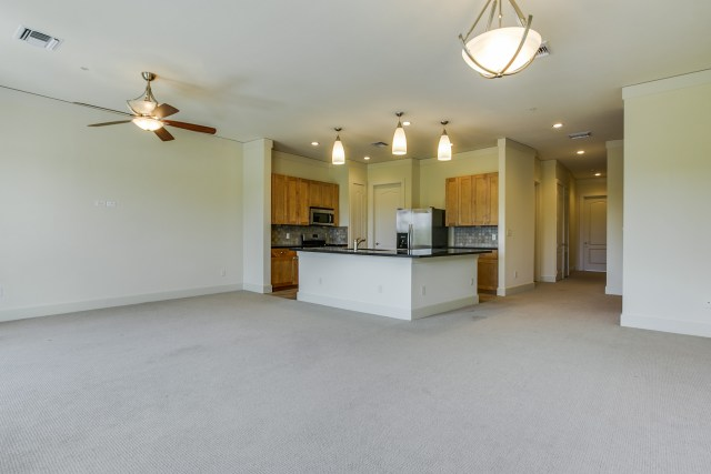 The spacious and open kitchen of 3300 West 7th Street #301
