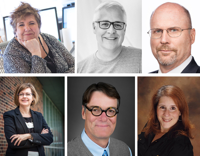 2017 Fellows (clockwise): Marcia Ascanio, Bob Borson, John Hutchings, Lisa Lamkin, and Michael Malone