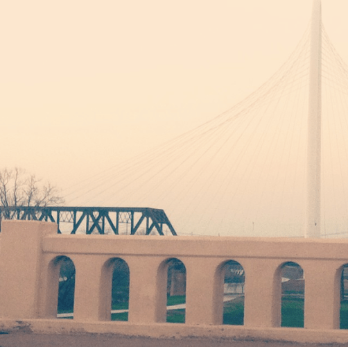 Glimpse of the River through Commerce St Bridge. Taken by Amanda Popken