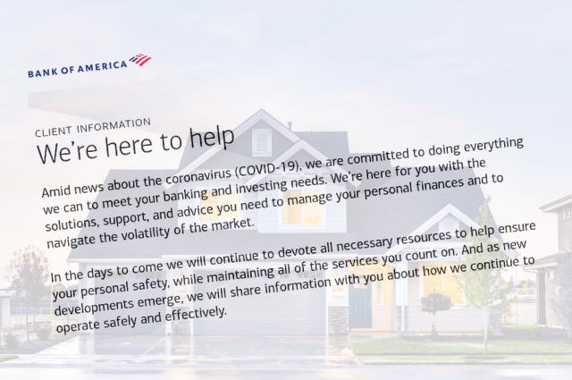 Bank of America mortgage relief