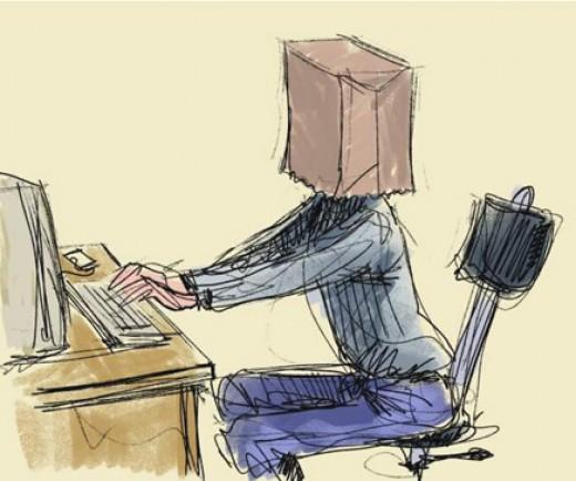 Hiding identity at computer
