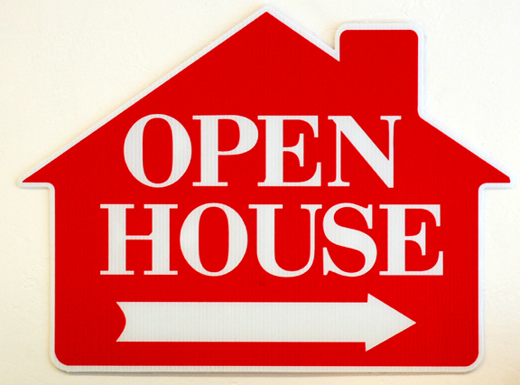 open-house-red-arrow-shaped