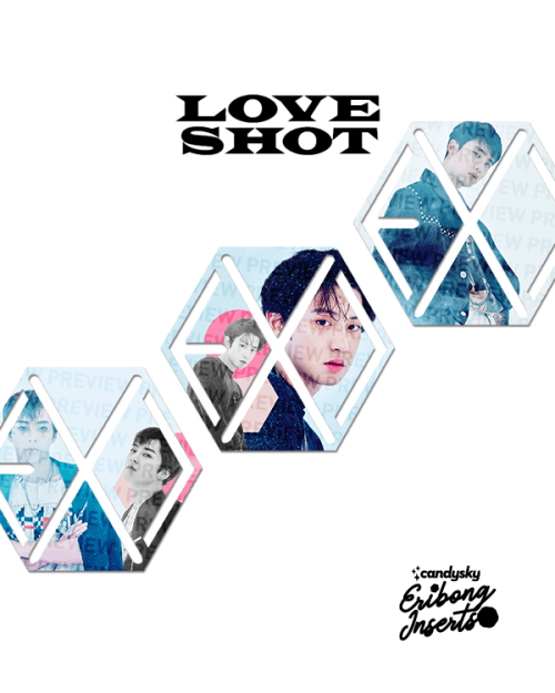 EXO Eribong Inserts: Love Shot Collection