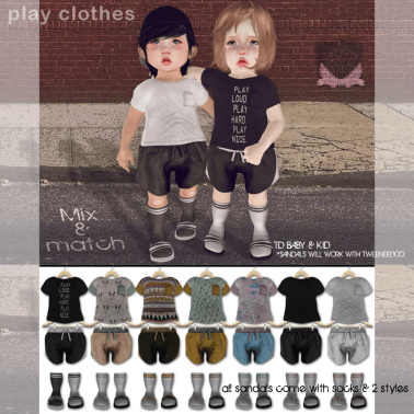 Play Clothes Ad with outfits