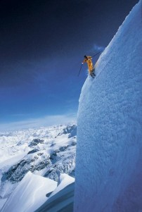 Extreme skiing in Wyoming