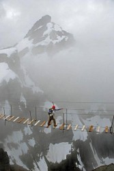 Skywalking on Mount Nimbus in Canada