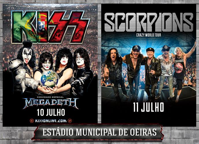 KISS, Scorpions e Megadeth em Portugal