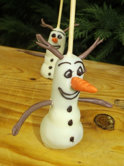Cakes pops Olaf4