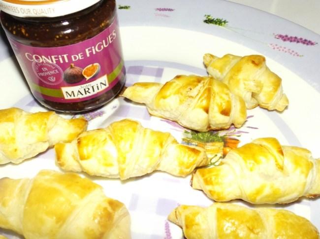 Croissants feuilletés au magret de canard et au confit de figue3