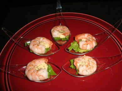 Cuillère apéritive à la crevette et sa sauce cocktail2