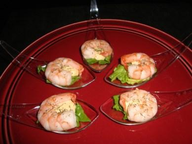 Cuillère apéritive à la crevette et sa sauce cocktail5