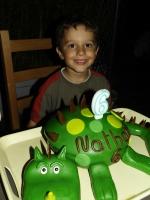 Gâteau Dinosaure pour les 6 ans de Nathan ( pâte à sucre )8