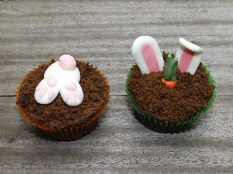 Les cupcakes carottes et lapins de Pâques3