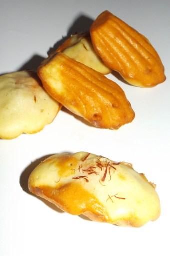 Madeleine marbré tomate gelée de champagne au safran